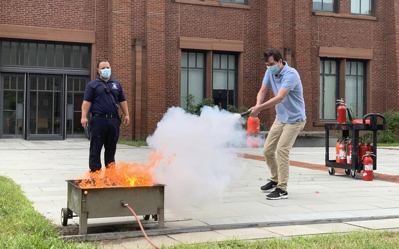 Fire Extinguisher Training with a Fire Inspector
