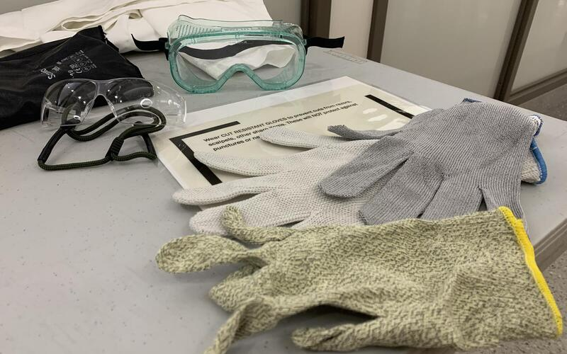 Personal Protective Equipment Table, Yale Environmental Health & Safety