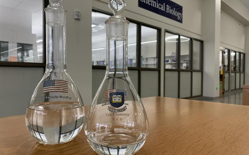 Flat Bottomed Flasks, Sterling Chemistry Laboratory Teaching Spaces